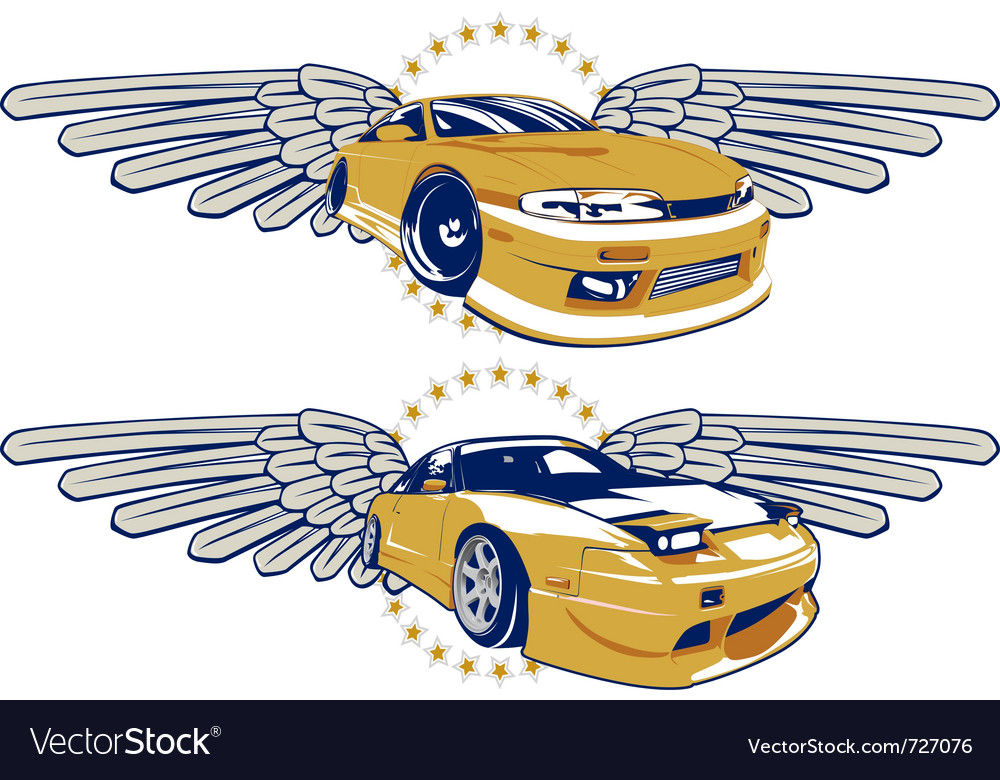 Race car emblem vector | Price: 1 Credit (USD $1)