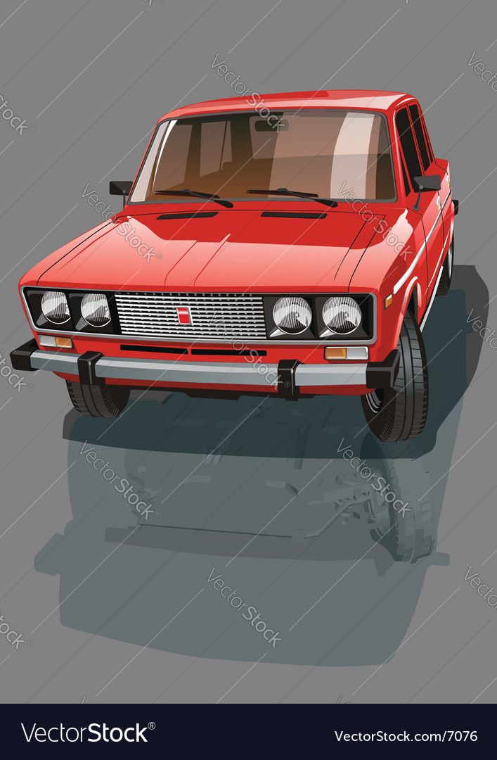 Red shiny car vector | Price: 3 Credit (USD $3)