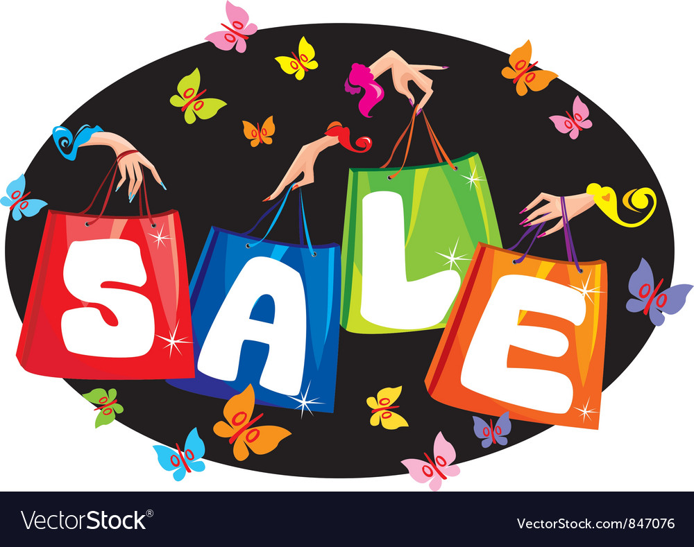 Sale concept with pockets and hands vector   Price: 1 Credit (USD $1)