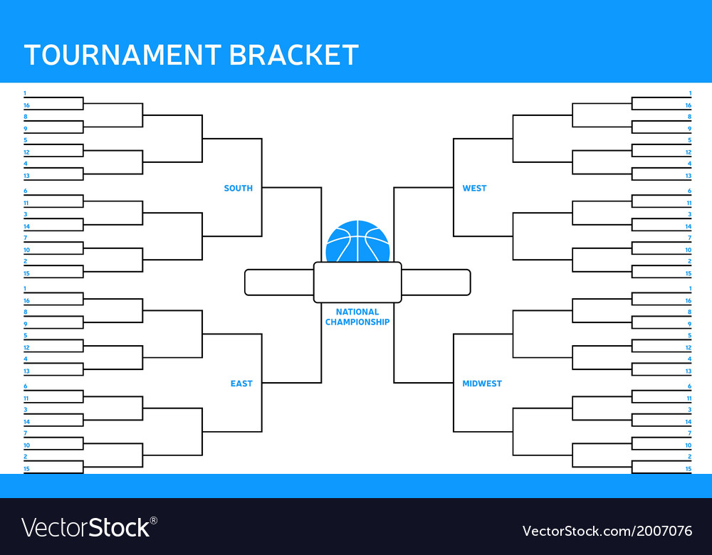 Tournament bracket vector | Price: 1 Credit (USD $1)