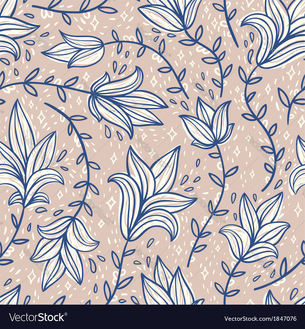 Vintage doodle pattern vector | Price: 1 Credit (USD $1)