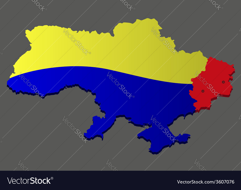 War in eastern ukraine vector | Price: 1 Credit (USD $1)