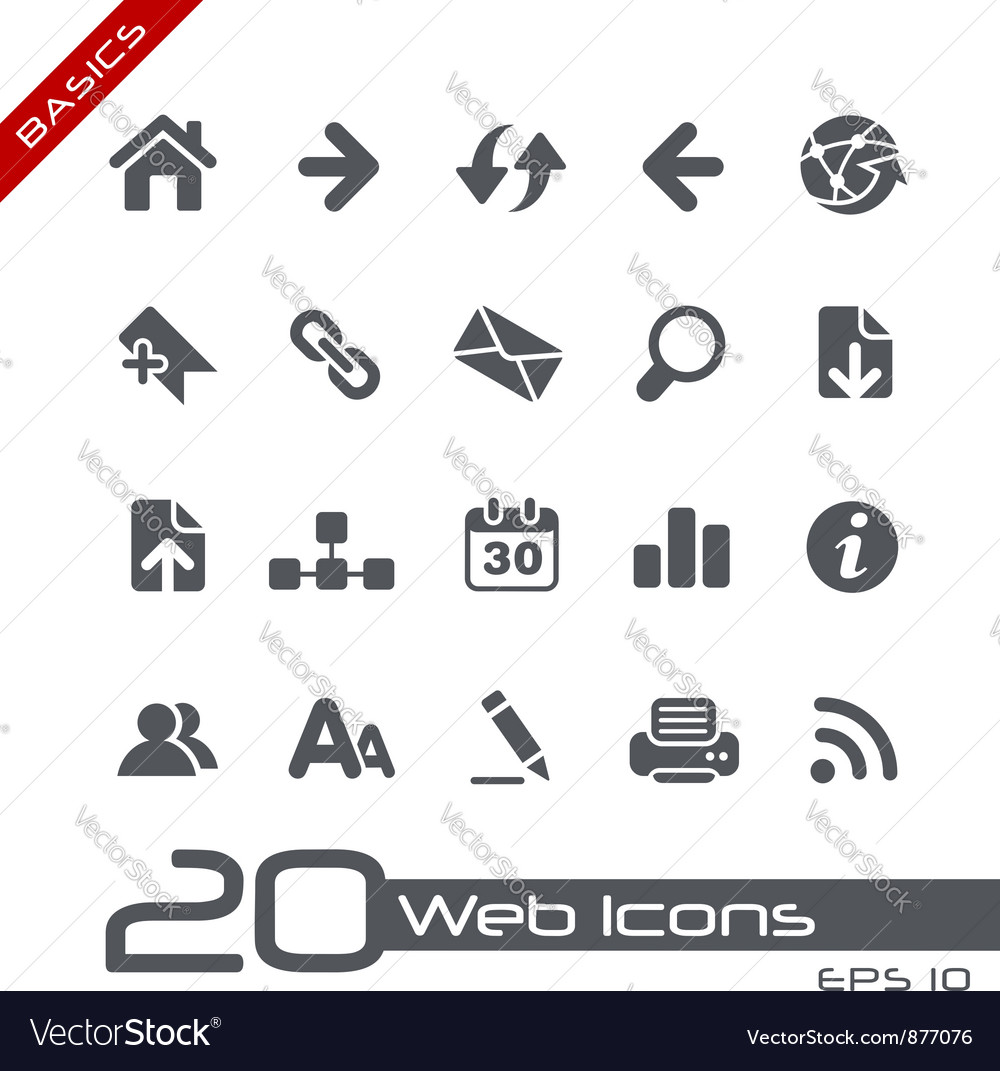 Web navigation basics series vector