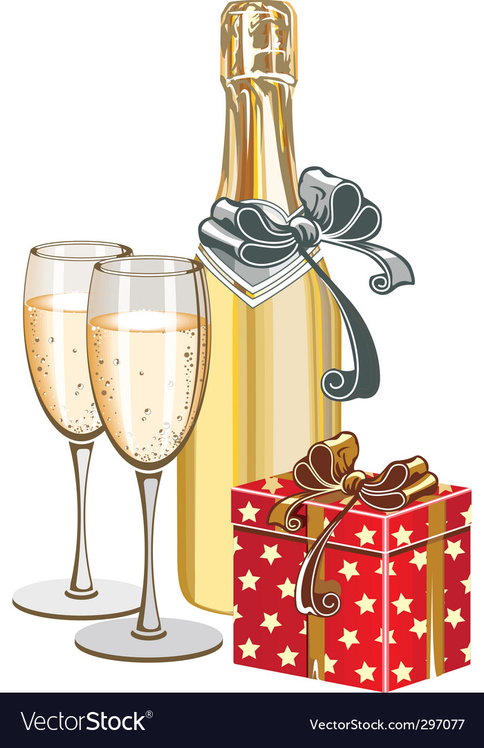Champagne bottle vector | Price: 1 Credit (USD $1)