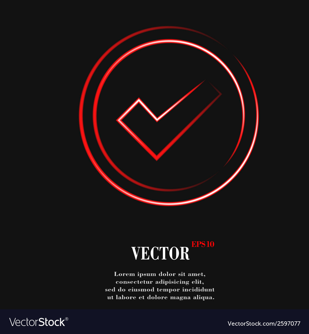 Check mark flat modern web button and space for vector   Price: 1 Credit (USD $1)