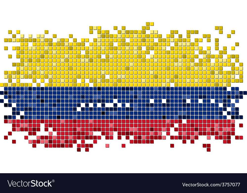 Colombian grunge tile flag vector | Price: 1 Credit (USD $1)
