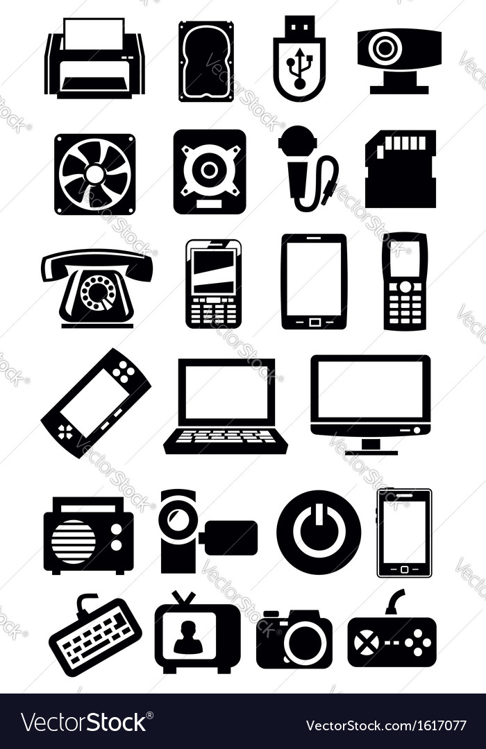 Electronic devices icon vector | Price: 1 Credit (USD $1)