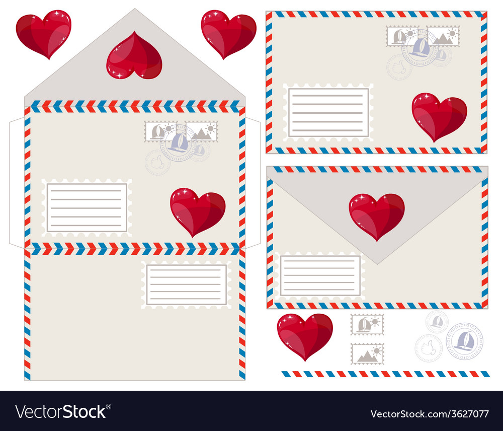 Envelope with heart vector | Price: 1 Credit (USD $1)