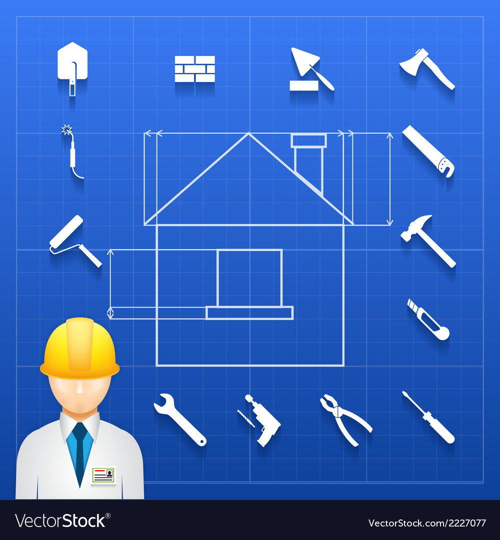 Home construction builder and tools icons vector | Price: 1 Credit (USD $1)