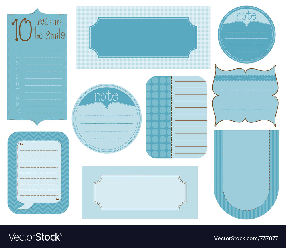 Set of design elements - vintage frames and tags vector | Price: 1 Credit (USD $1)