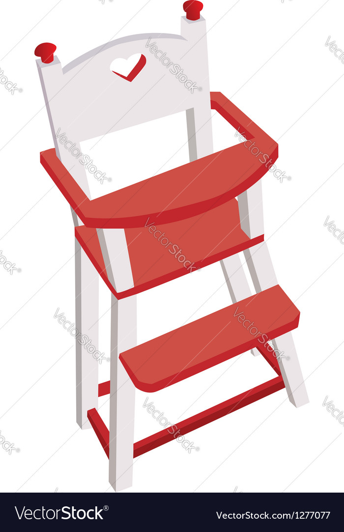 Wooden high chair vector | Price: 1 Credit (USD $1)