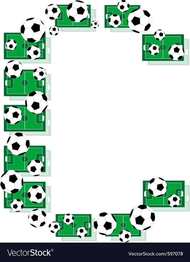 Alphabet football letter vector | Price: 1 Credit (USD $1)