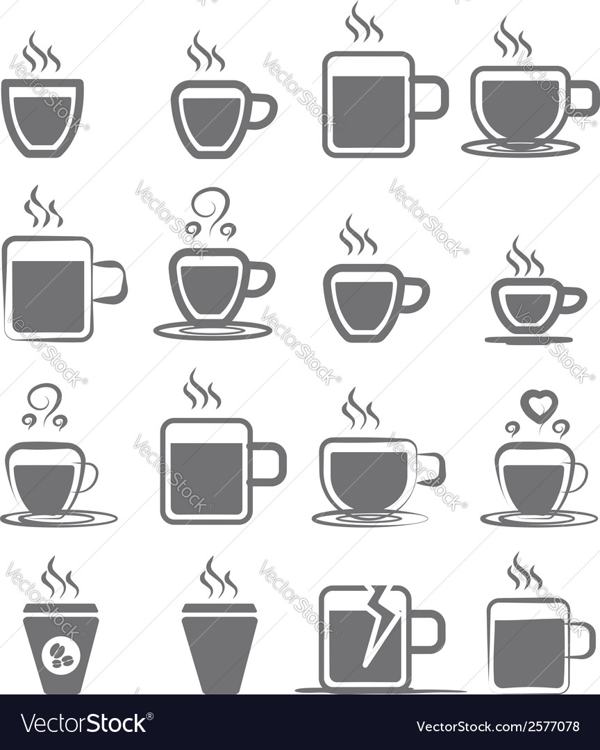 Coffee mug icon vector | Price: 1 Credit (USD $1)