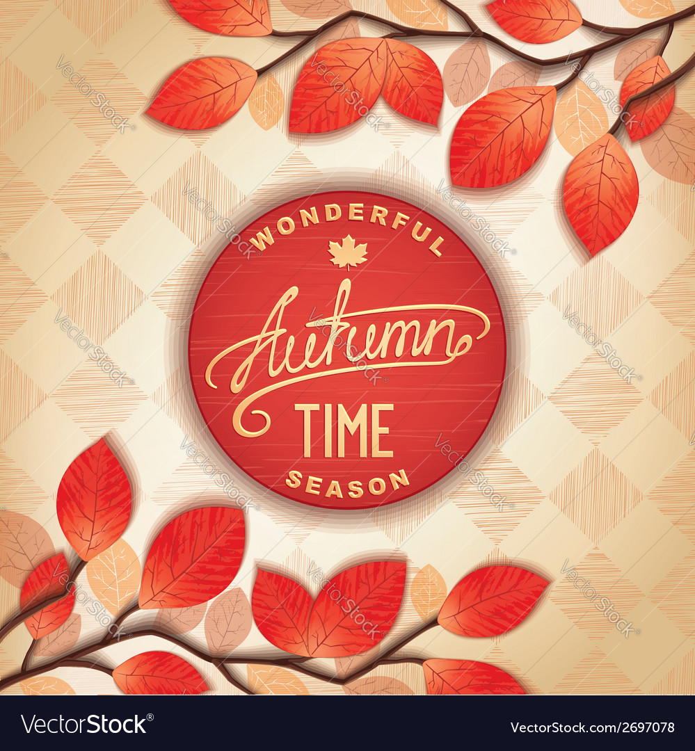 Colorful autumn signboard vector | Price: 1 Credit (USD $1)