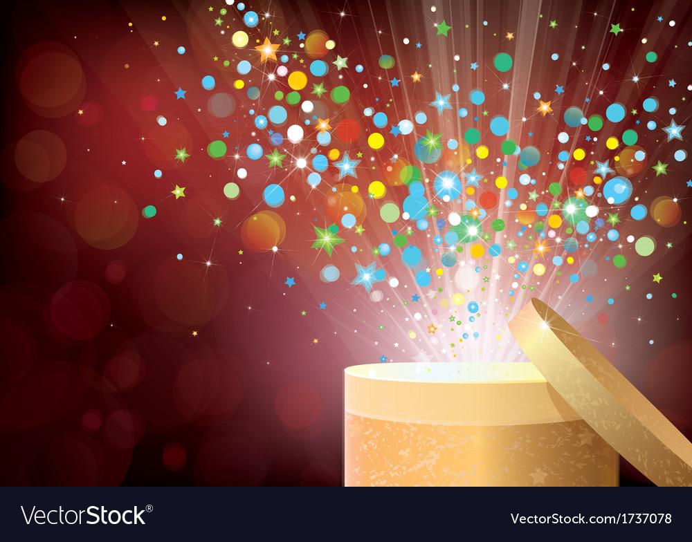 Confetti gift vector | Price: 1 Credit (USD $1)