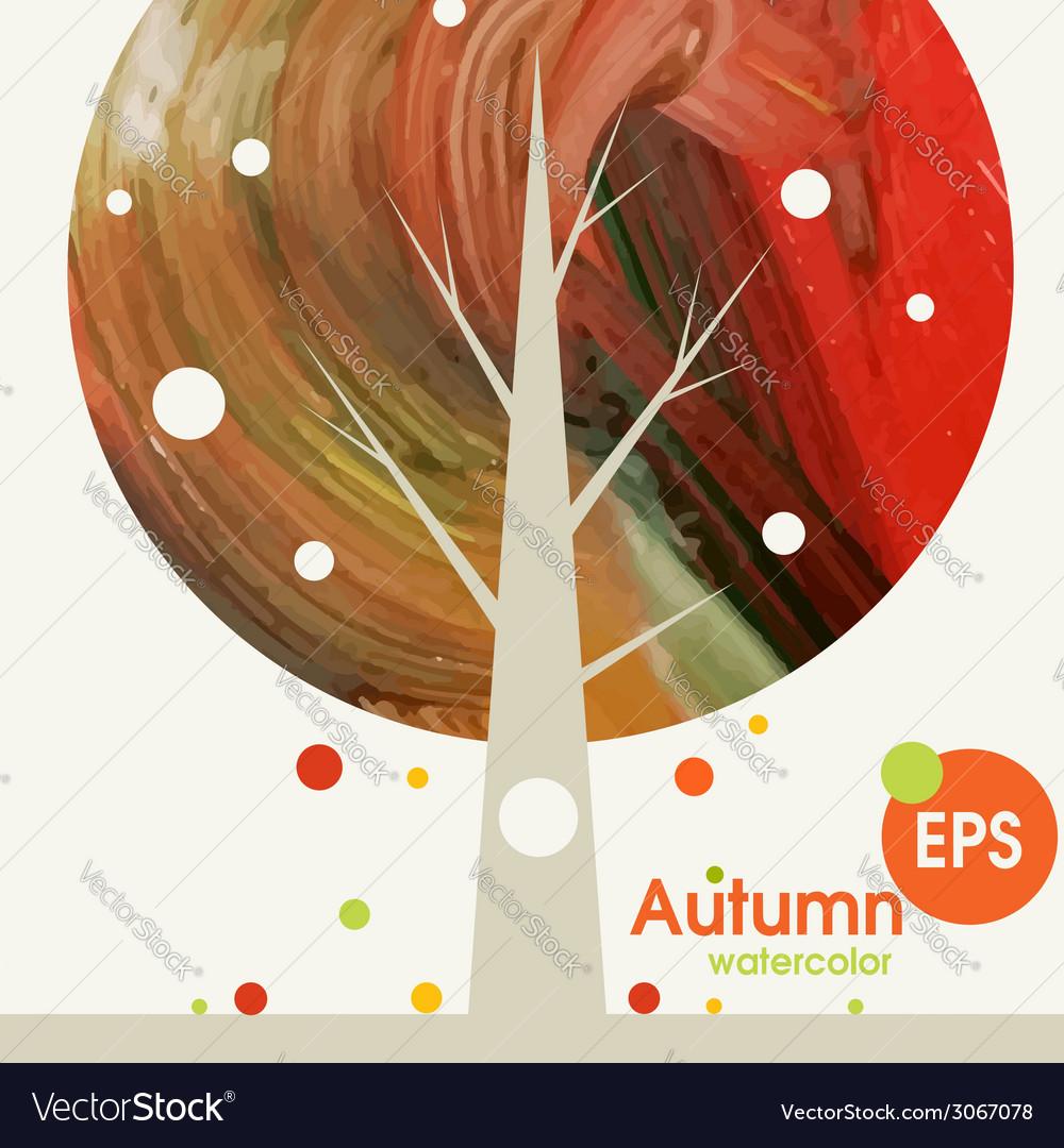 Creative autumn background vector | Price: 1 Credit (USD $1)