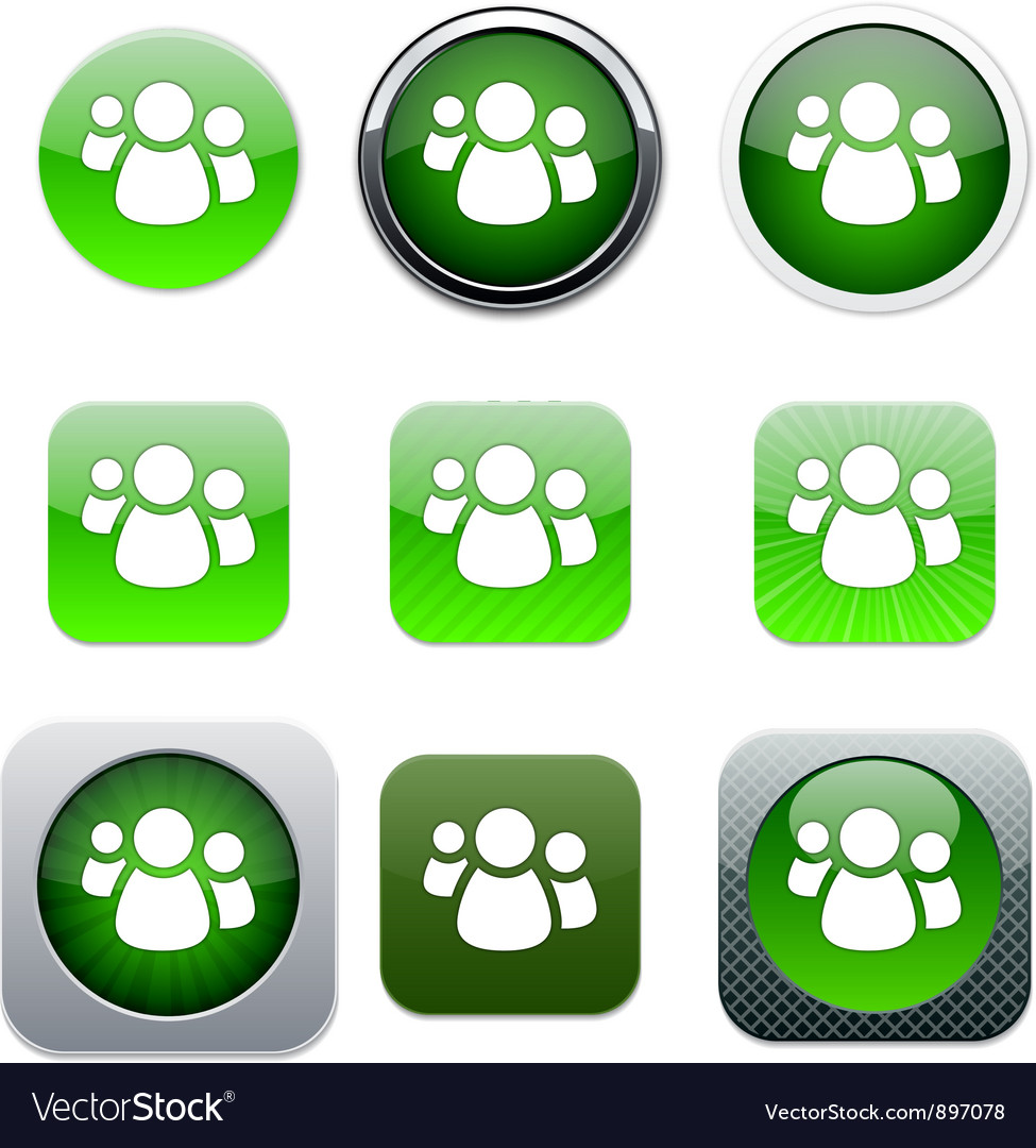 Forum green app icons vector | Price: 1 Credit (USD $1)