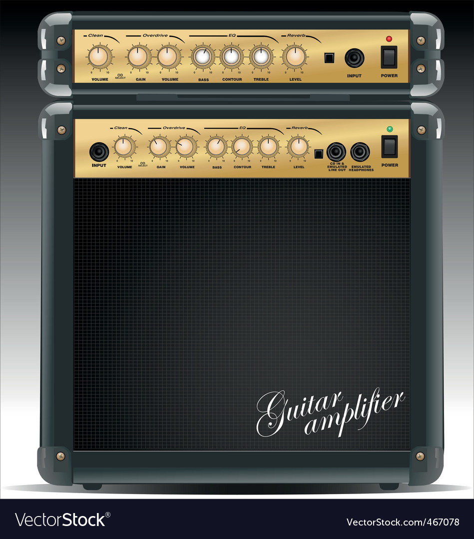 Guitar combo vector | Price: 3 Credit (USD $3)