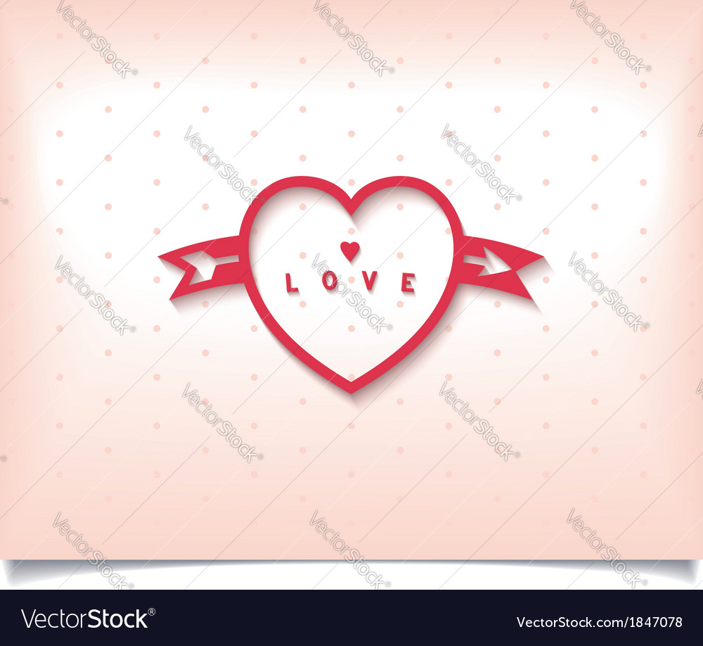 Heart with arrow and polka dot vector | Price: 1 Credit (USD $1)