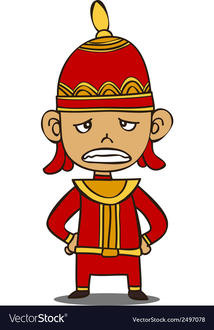 Little thai warrior vector | Price: 1 Credit (USD $1)