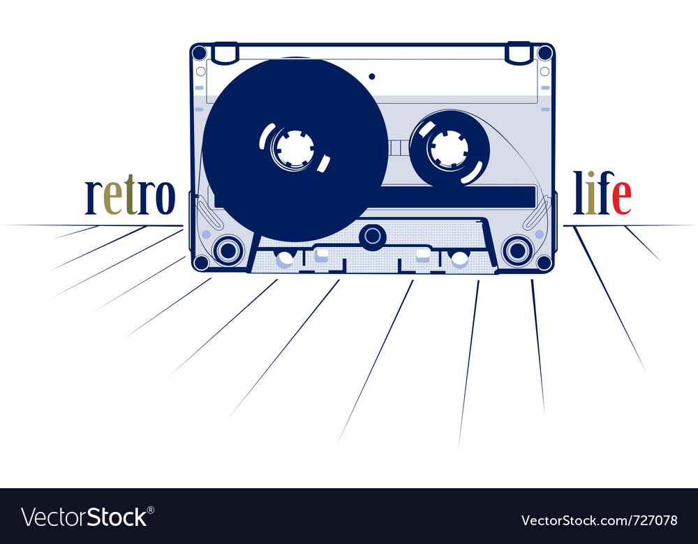 Retro style audio cassette vector | Price: 1 Credit (USD $1)