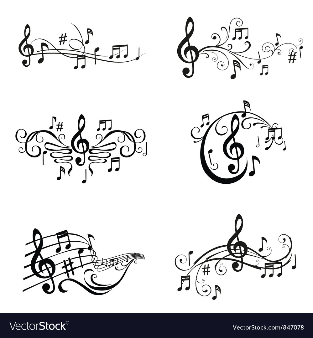 Set of musical notes vector | Price: 1 Credit (USD $1)