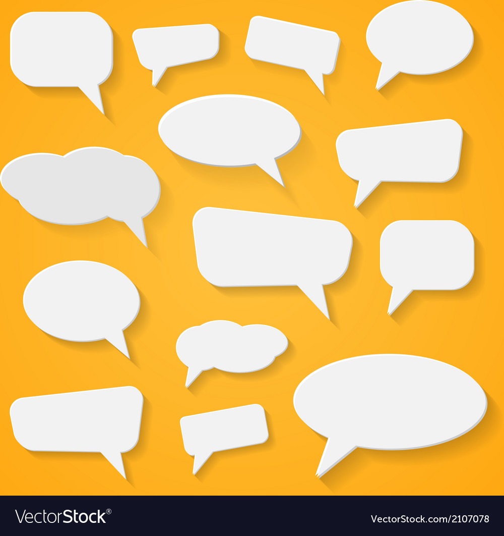 Set of various abstract speech bubbles vector | Price: 1 Credit (USD $1)