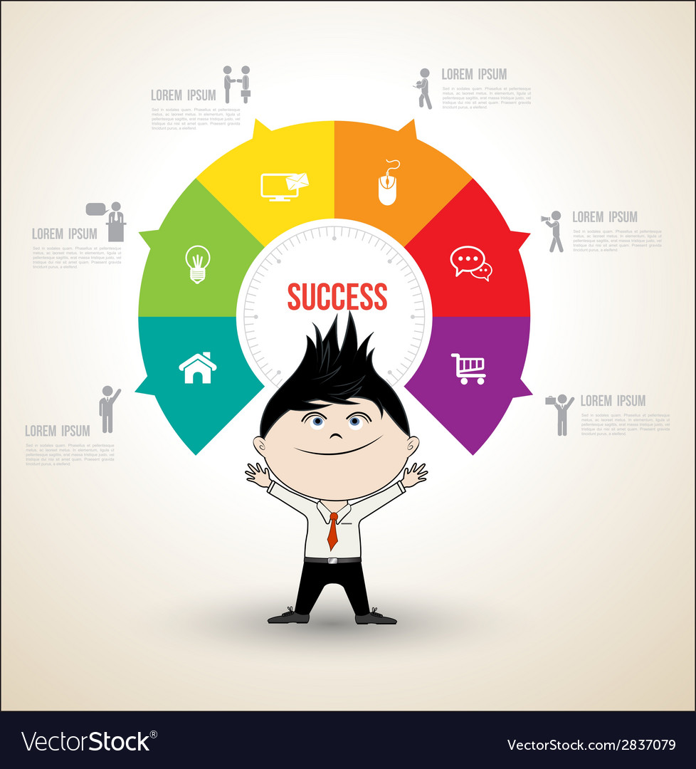 Circle concepts with business man vector | Price: 1 Credit (USD $1)