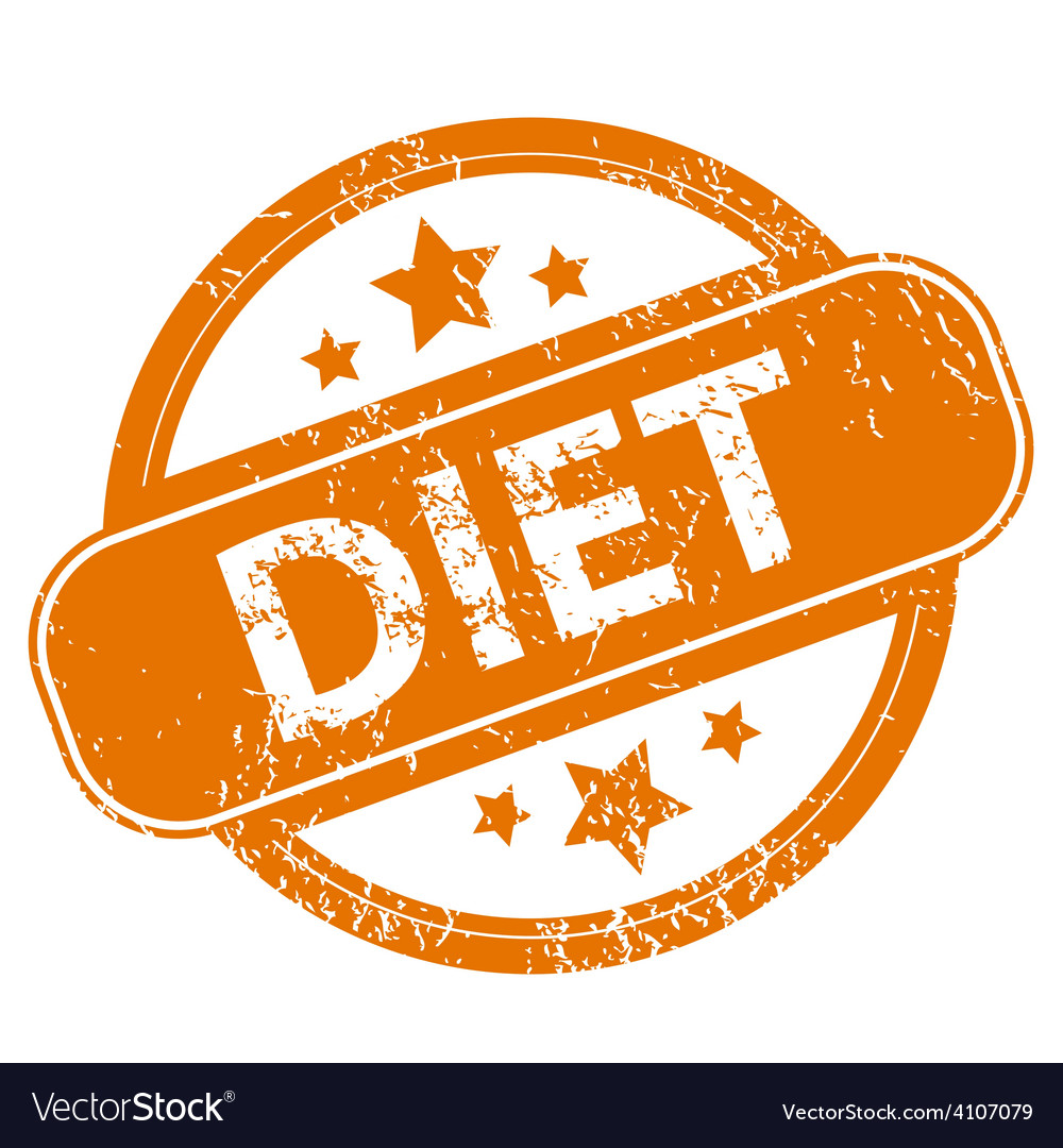 Diet grunge icon vector | Price: 1 Credit (USD $1)