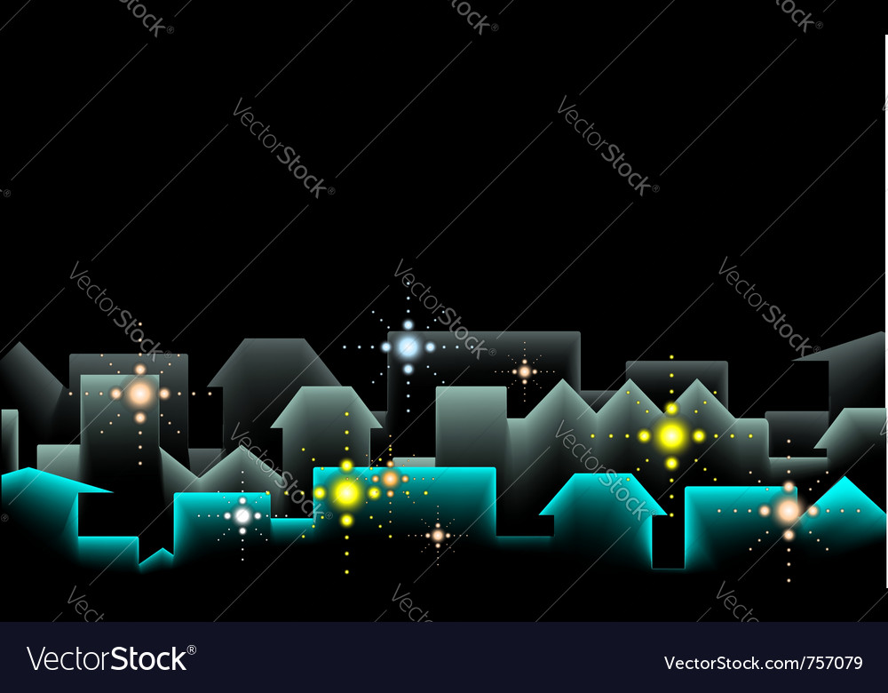 Night city background vector | Price: 1 Credit (USD $1)