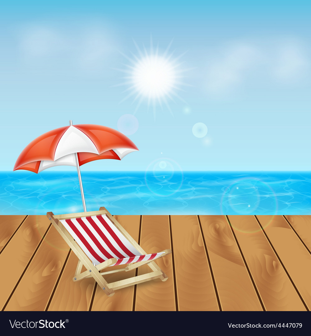 Tropical sea and beach vector | Price: 3 Credit (USD $3)