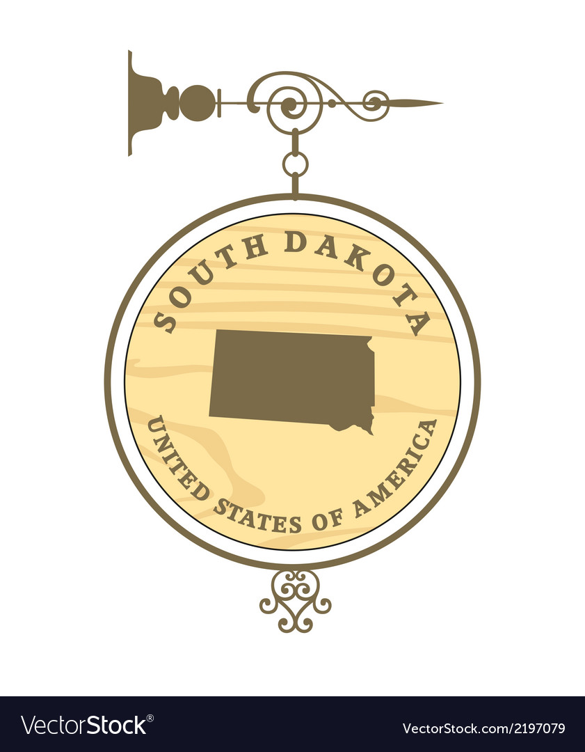 Vintage label south dakota vector | Price: 1 Credit (USD $1)