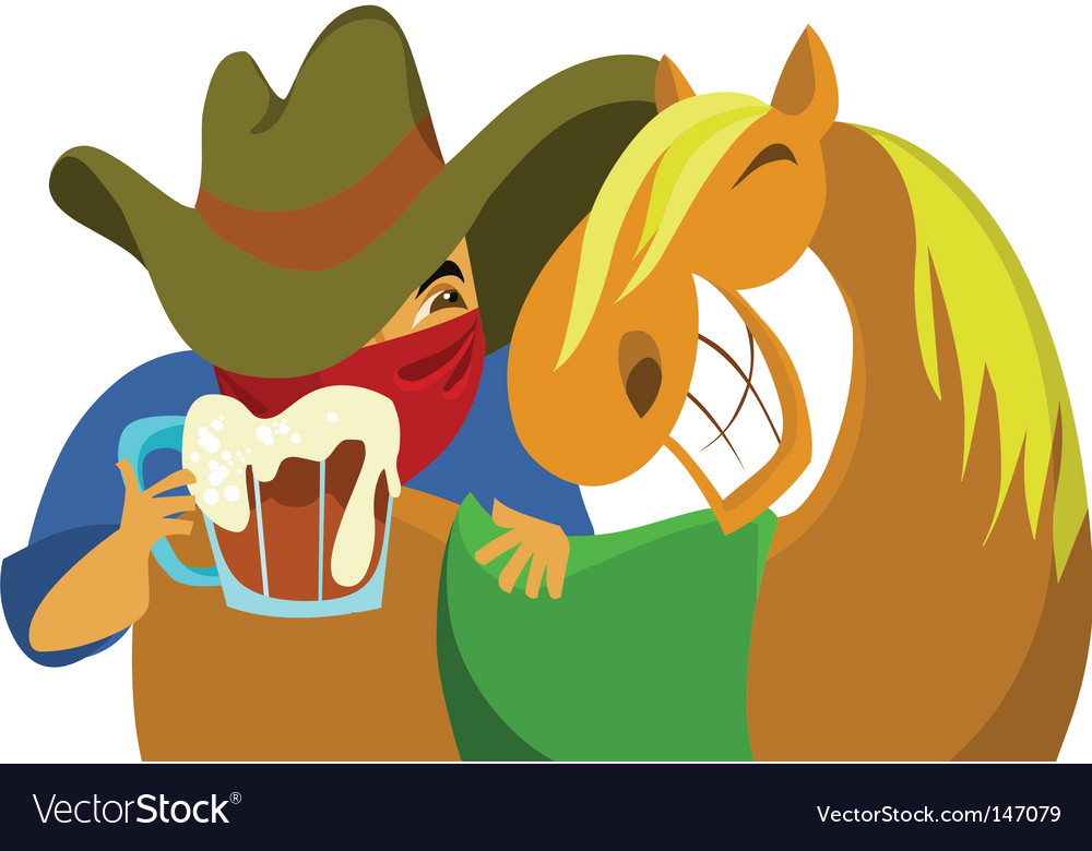 Wild west cowboy vector | Price: 1 Credit (USD $1)