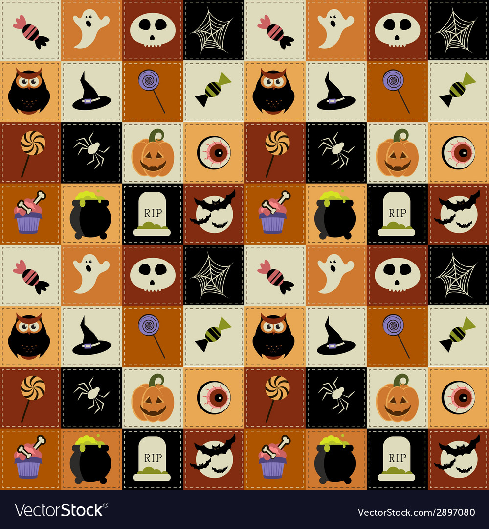 Background with halloween elements vector | Price: 1 Credit (USD $1)