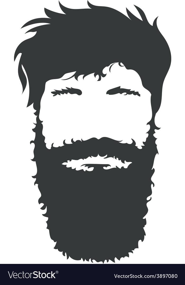 Bearded man vector | Price: 1 Credit (USD $1)