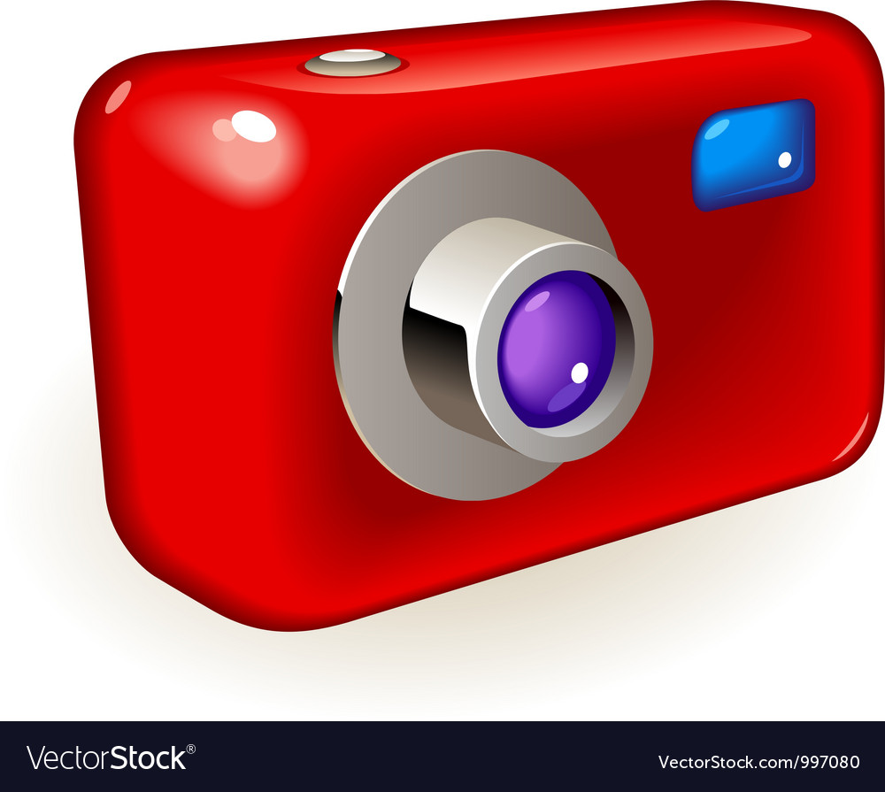 Compact photo camera vector | Price: 3 Credit (USD $3)