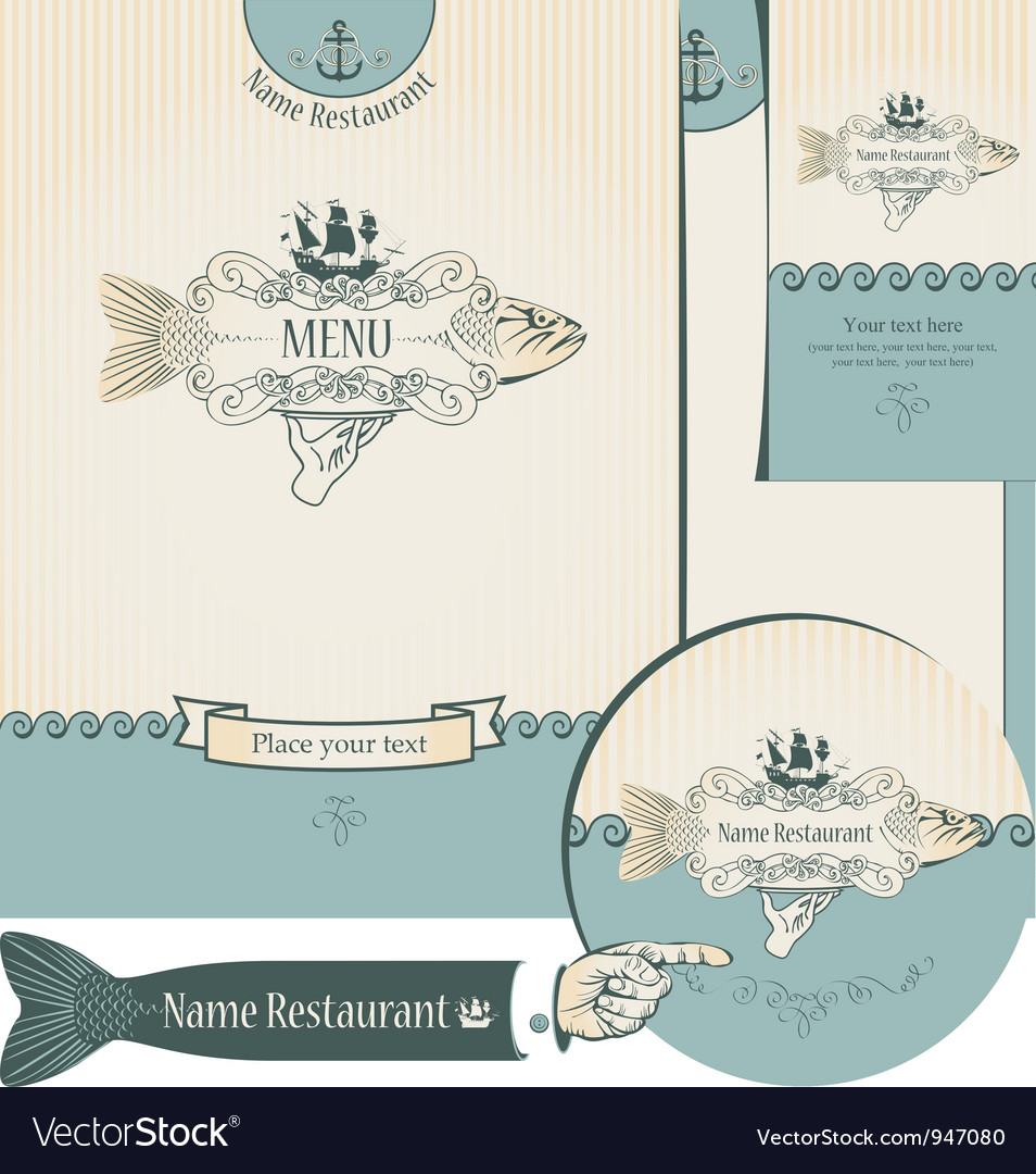 Fish restaurants vector | Price: 1 Credit (USD $1)