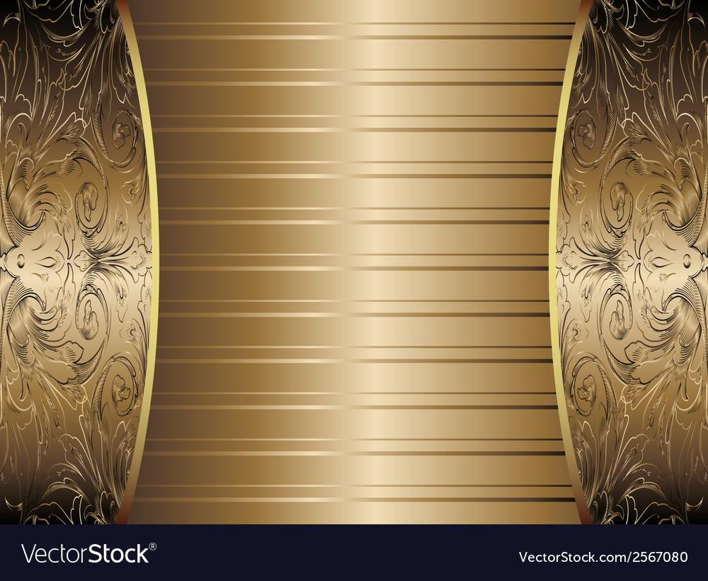 Gold vintage background vector   Price: 1 Credit (USD $1)
