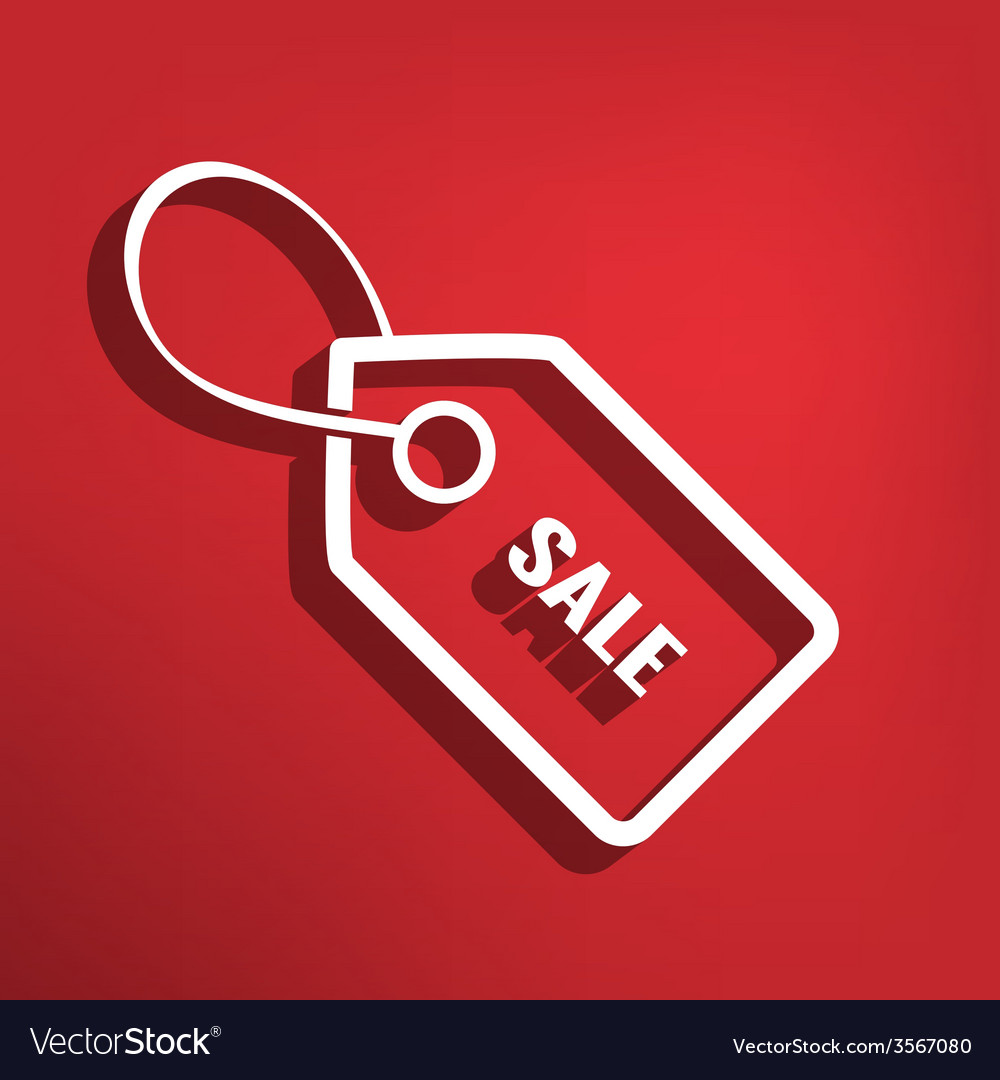Sale tag flat icon vector | Price: 1 Credit (USD $1)