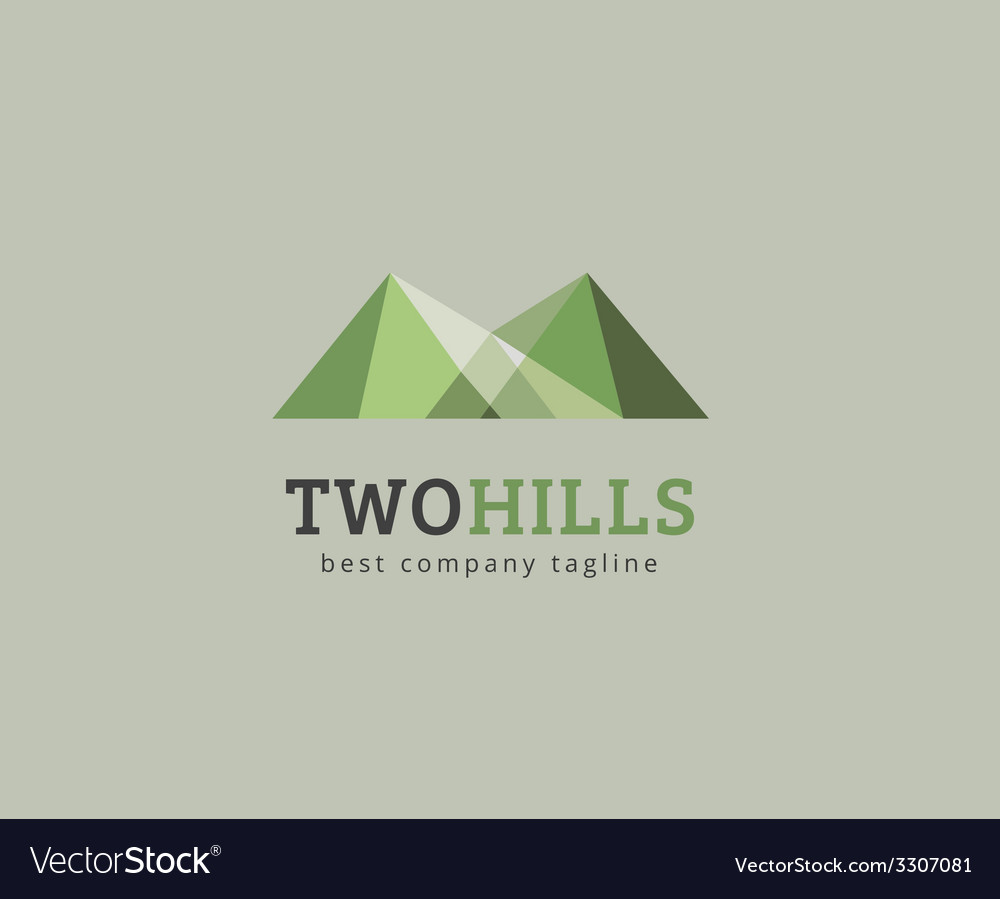 Abstract green hills logo icon concept vector | Price: 1 Credit (USD $1)