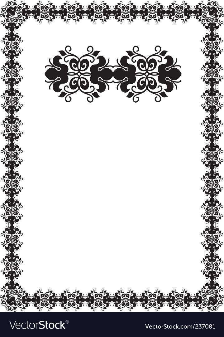 Black frame vector | Price: 1 Credit (USD $1)