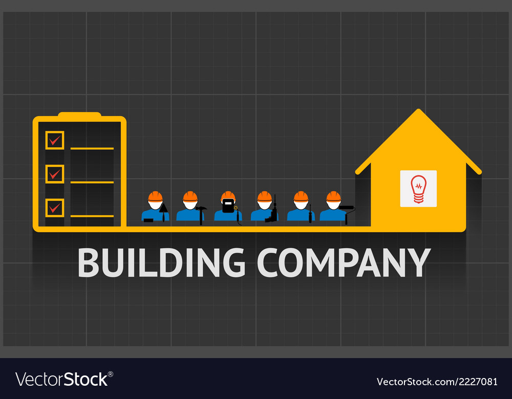 Building company emblem vector | Price: 1 Credit (USD $1)
