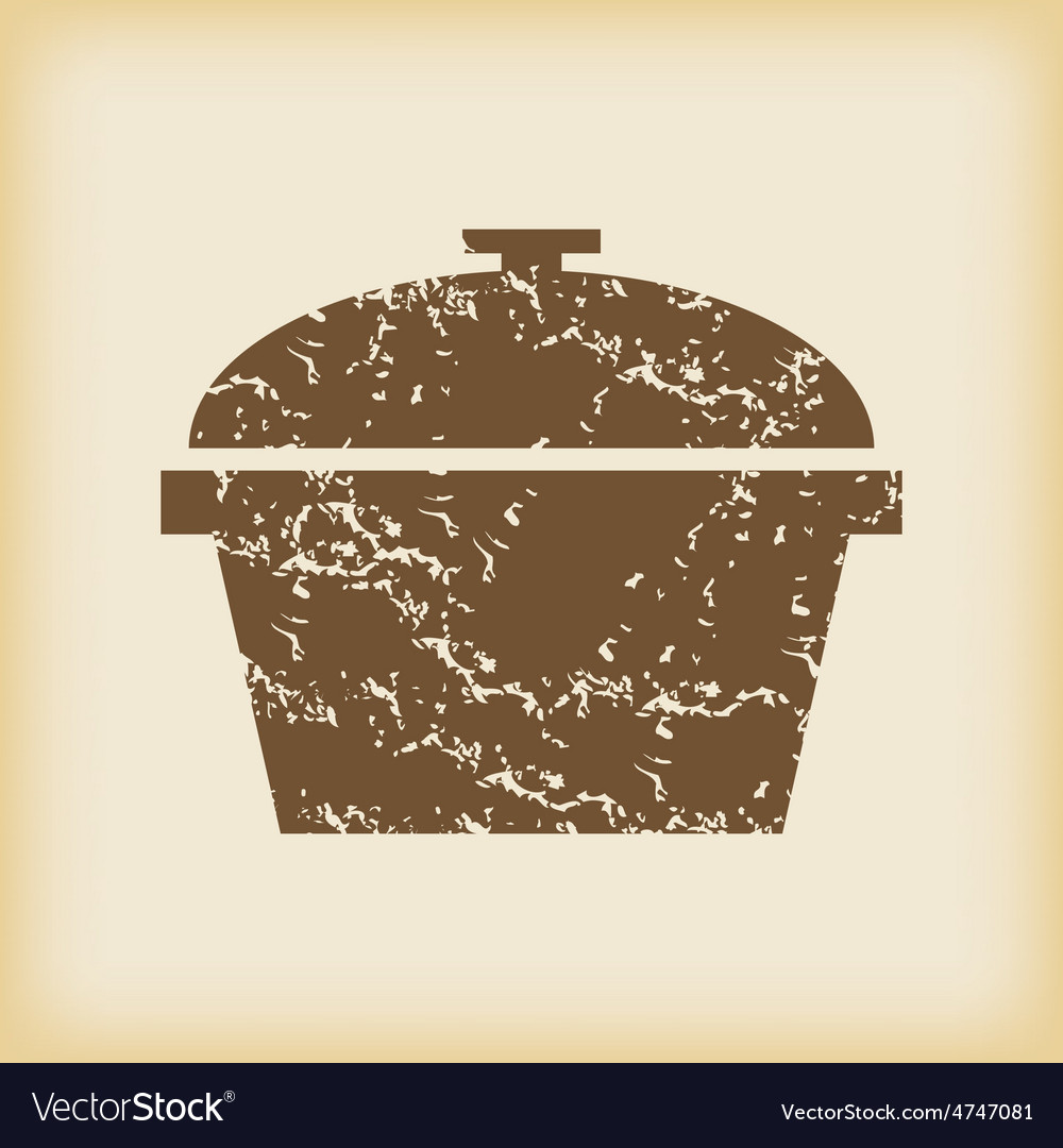 Grungy pan icon vector | Price: 1 Credit (USD $1)