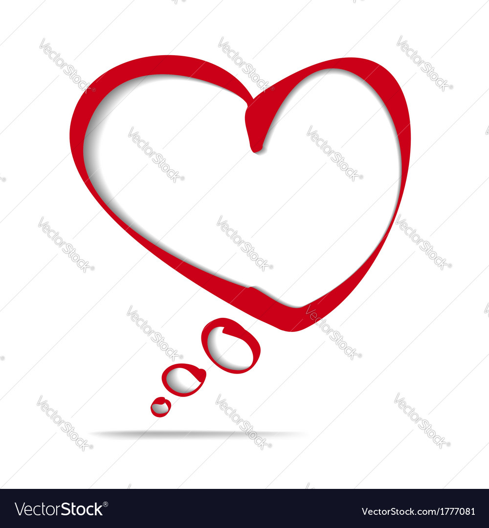 Heart frame bubble cartoon vector | Price: 1 Credit (USD $1)