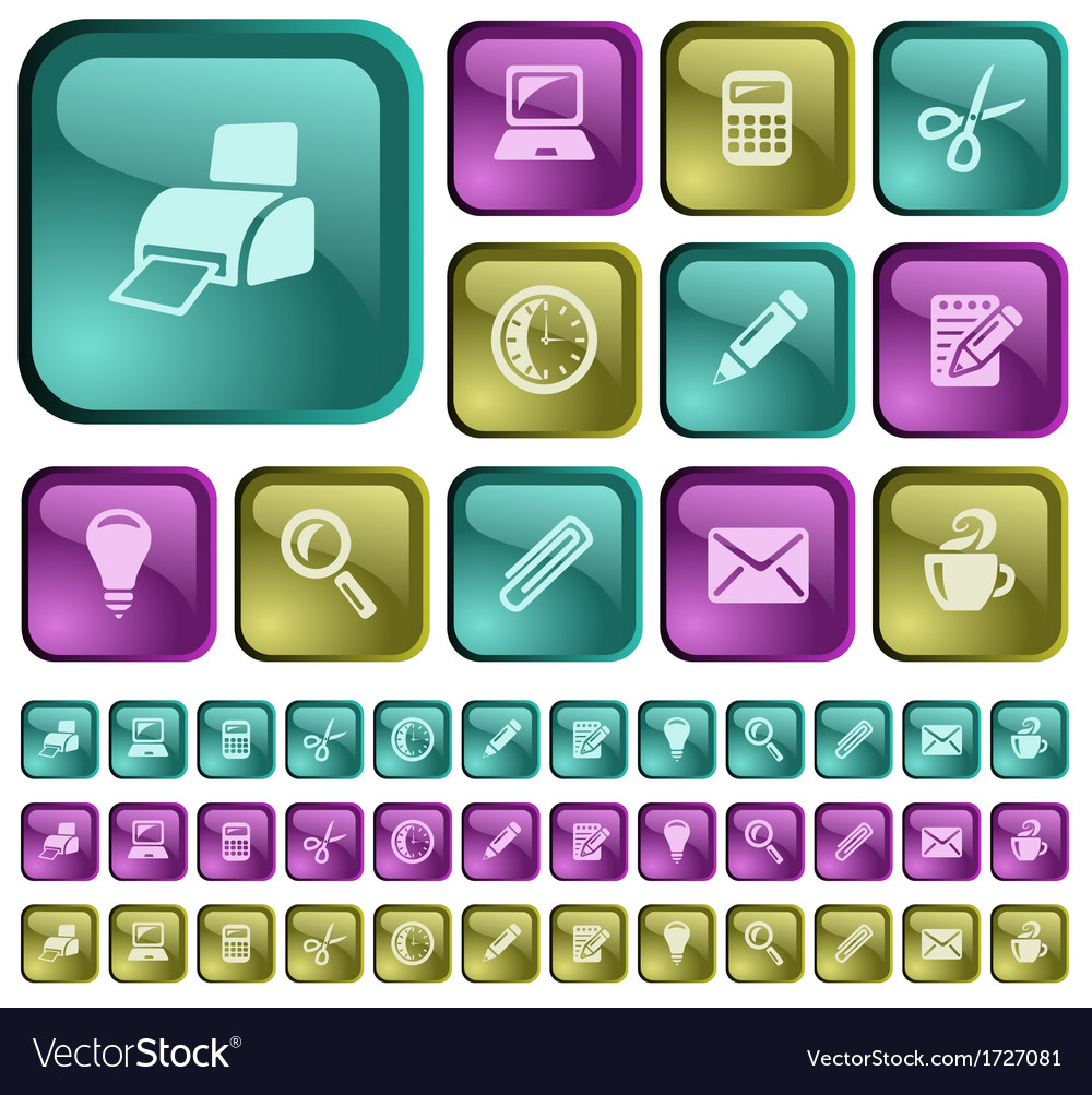 Office buttons vector | Price: 1 Credit (USD $1)