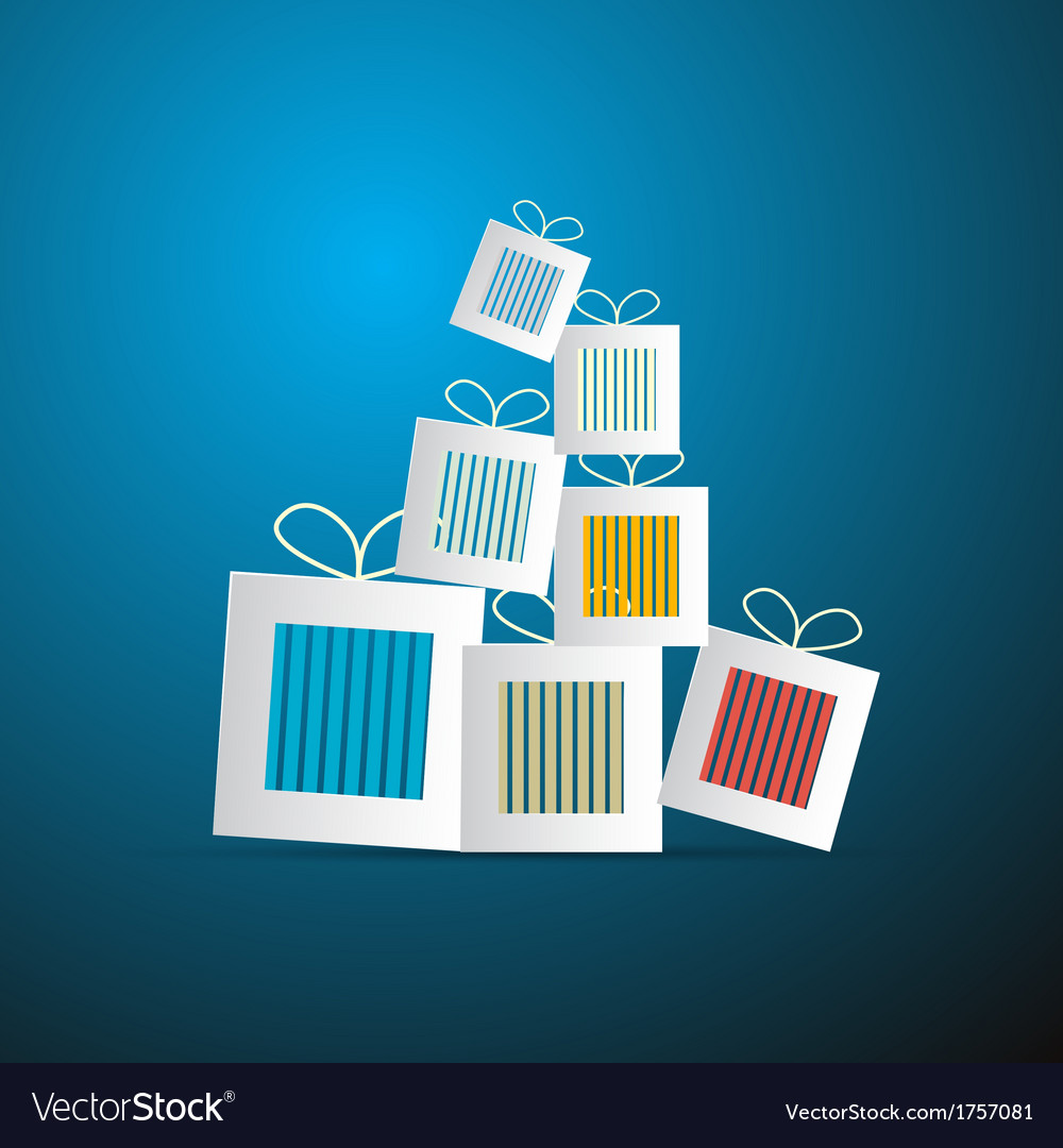 Paper abstract gift present boxes vector | Price: 1 Credit (USD $1)