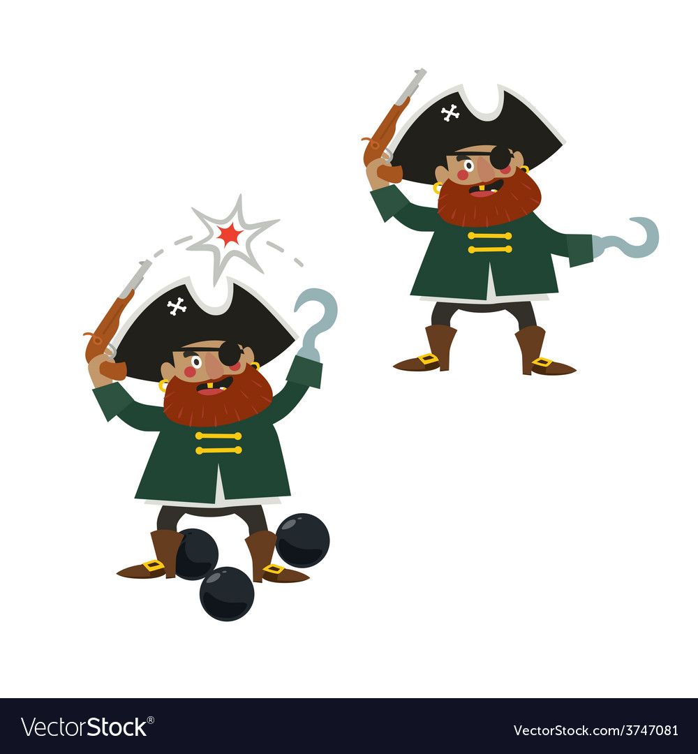 Pirate captain characters vector | Price: 1 Credit (USD $1)