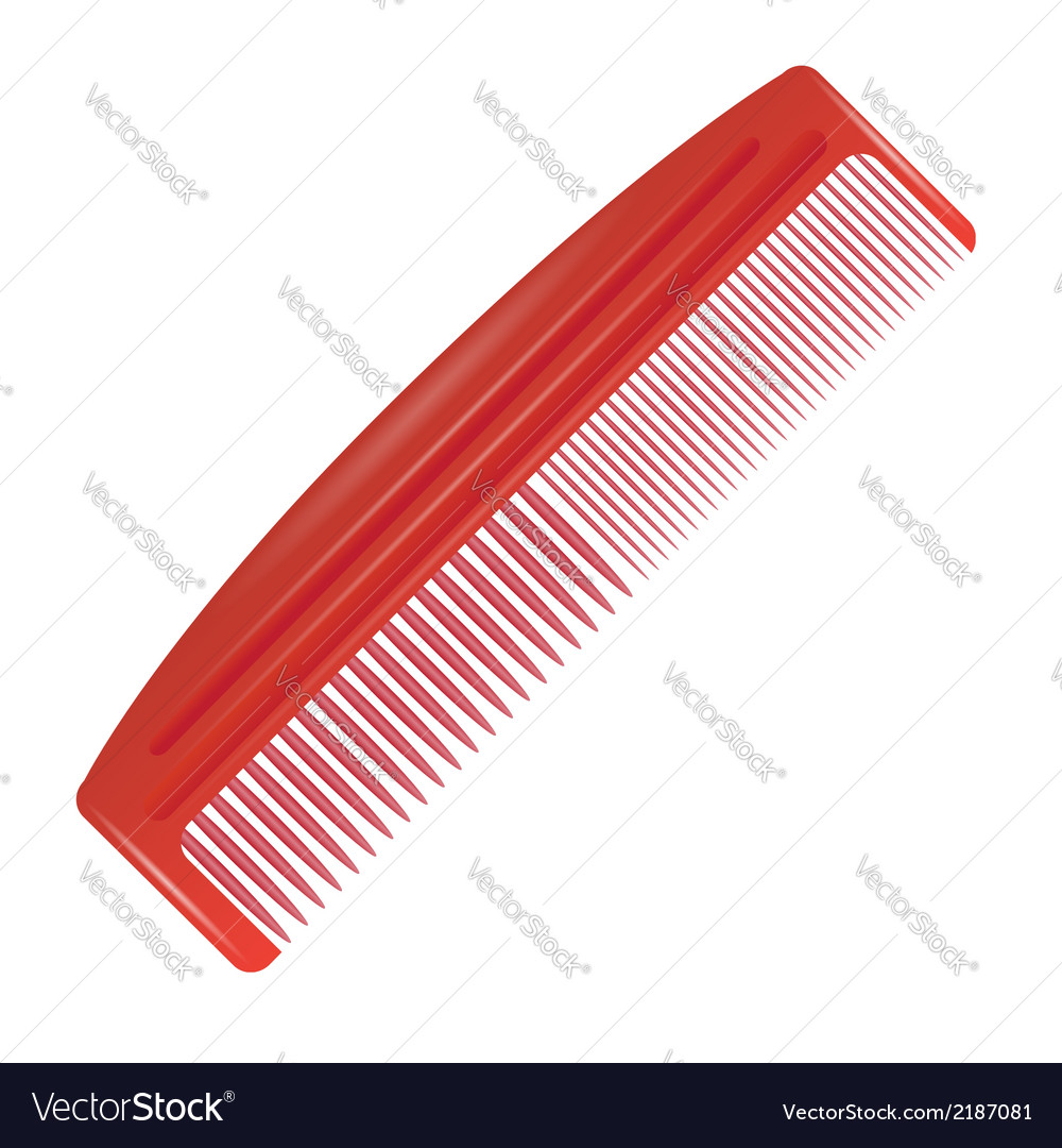 Red comb vector | Price: 1 Credit (USD $1)