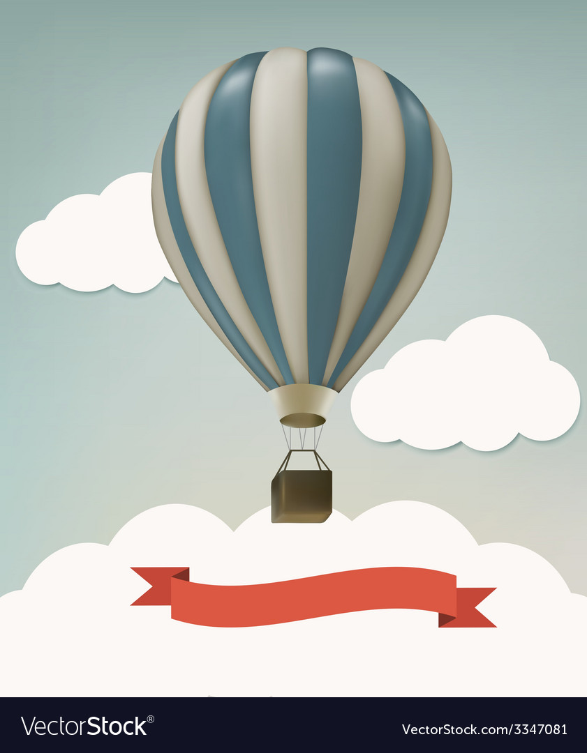 Retro background with colorful air balloons and vector | Price: 3 Credit (USD $3)