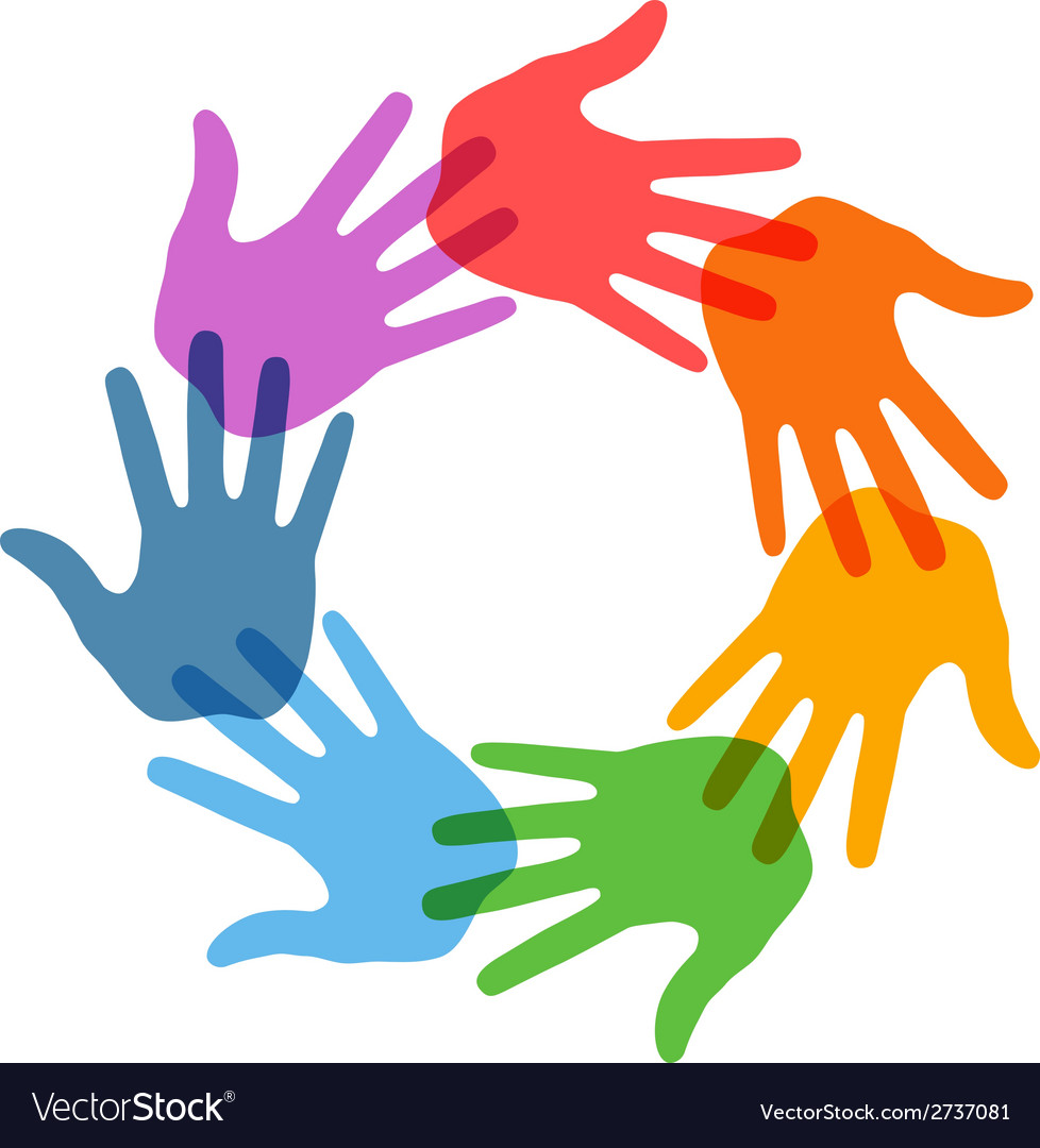 Right hand print icon 7 colors vector | Price: 1 Credit (USD $1)